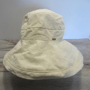 Scala - Beige 100% Cotton Unisex One Size Hat